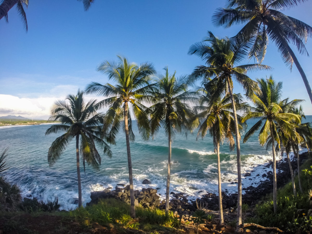 Vista de las olas.